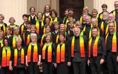 Chor probt für Gospelmesse